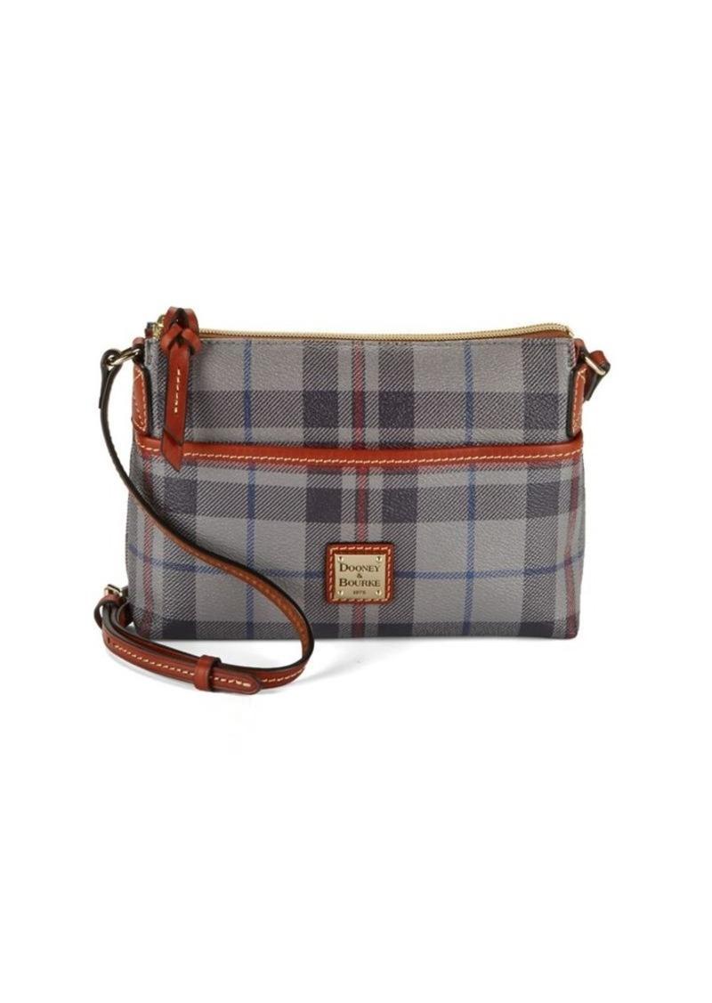 Dooney Bourke Ginger Plaid Cotton And Leather Crossbody Bag