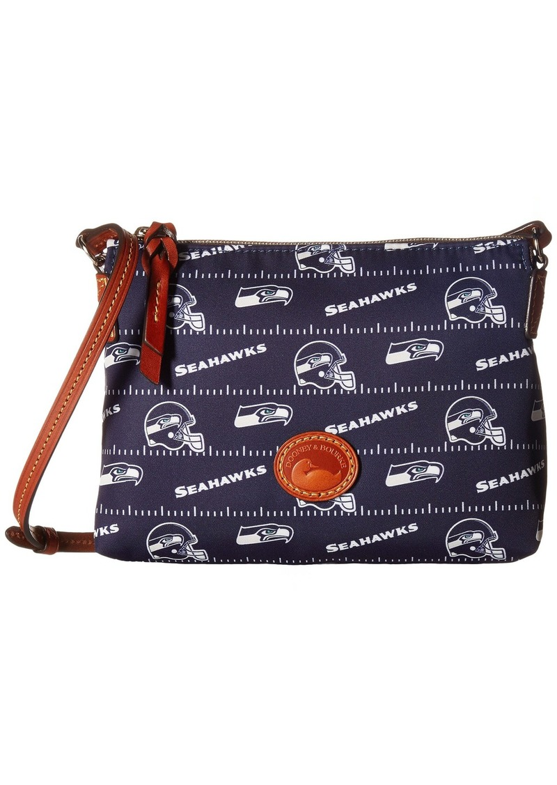 Dooney & Bourke NFL Nylon Crossbody Pouchette (Black/Tan/Steelers) Cross Body Handbags ueTuaprbjy