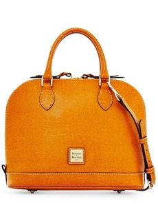 Dooney & Bourke Saffiano Leather Zip Zip Satchel