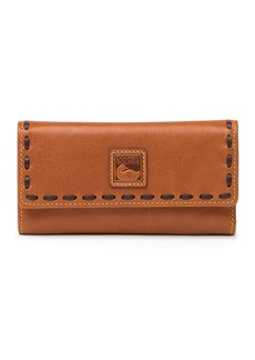 Dooney & Bourke Florentine Leather Checkbook Organizer Wallet