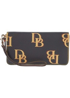 Dooney & Bourke Monogram Large Zip Around Wristlet