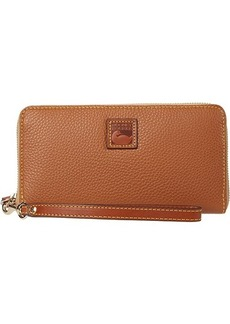 Dooney & Bourke Pebble Large Zip Around Wristlet