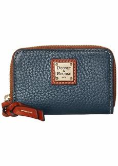 Dooney & Bourke Pebble Zip Around Credit Card Case
