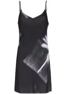 Double Rainbouu palm tree print slip dress