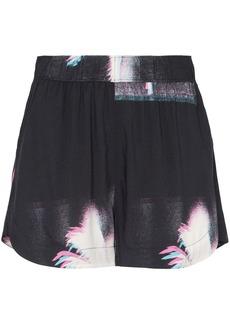 Double Rainbouu palm tree print shorts