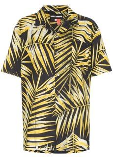 Double Rainbouu palm-print cotton Hawaiian shirt