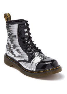 Dr. Martens 1460 Pooch Sequin Boot (Big Kid)