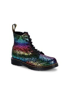 Dr. Martens Baby's, Little Girl's & Girl's Rainbow Leather Boots