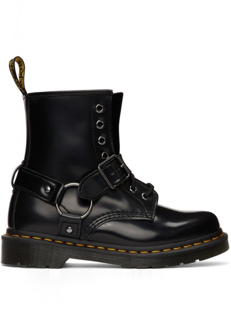 Dr. Martens Black 1460 Harness Boots