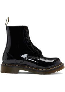 Dr. Martens Black Patent 1460 Pascal Front Zip Boots