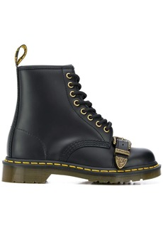 Dr. Martens buckle front leather boots
