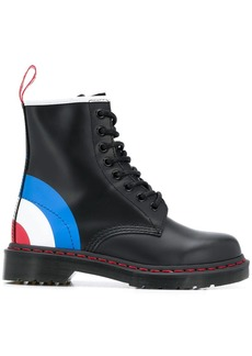 Dr. Martens bullseye print leather boots