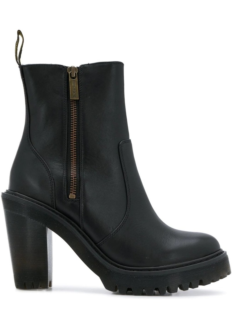 Dr. Martens chunky heel ankle boots
