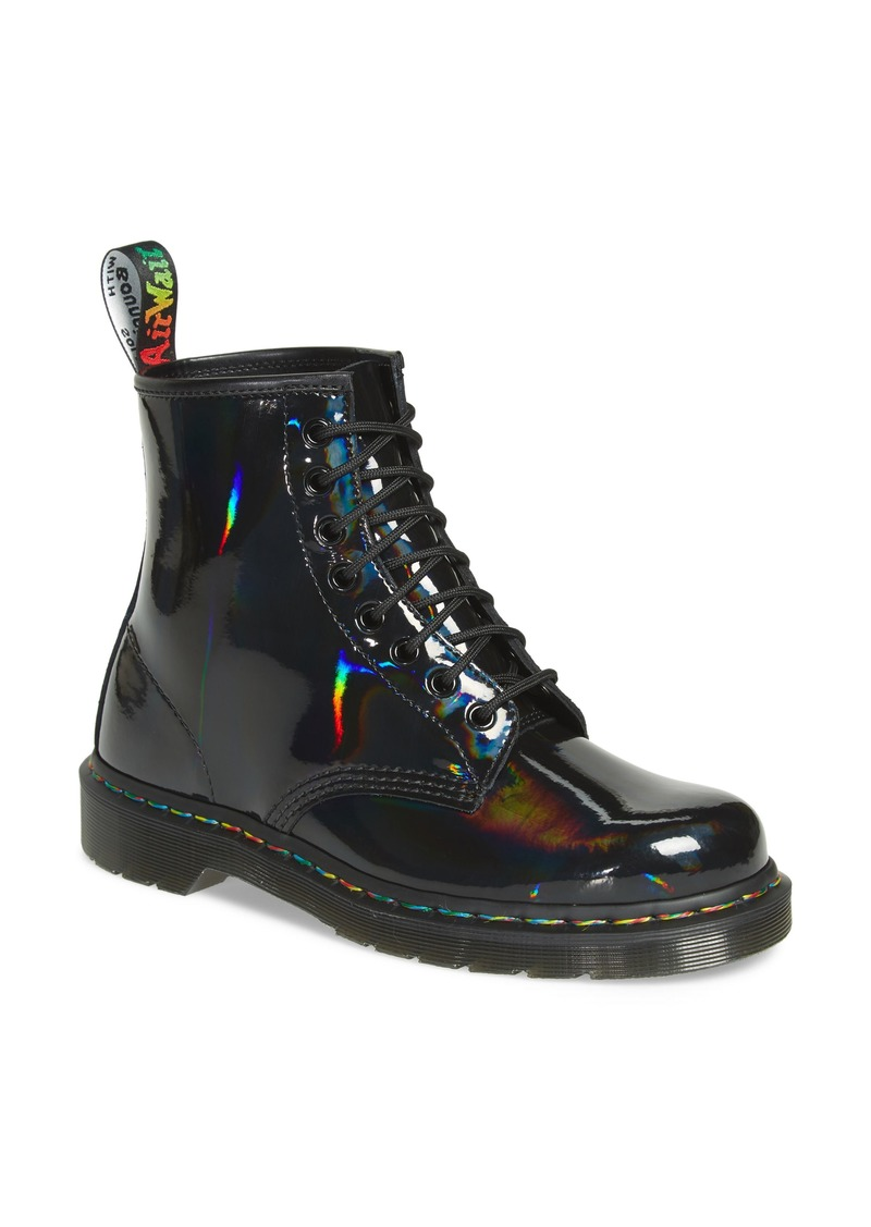 Dr. Martens 1460 Rainbow Patent Boot (Women)