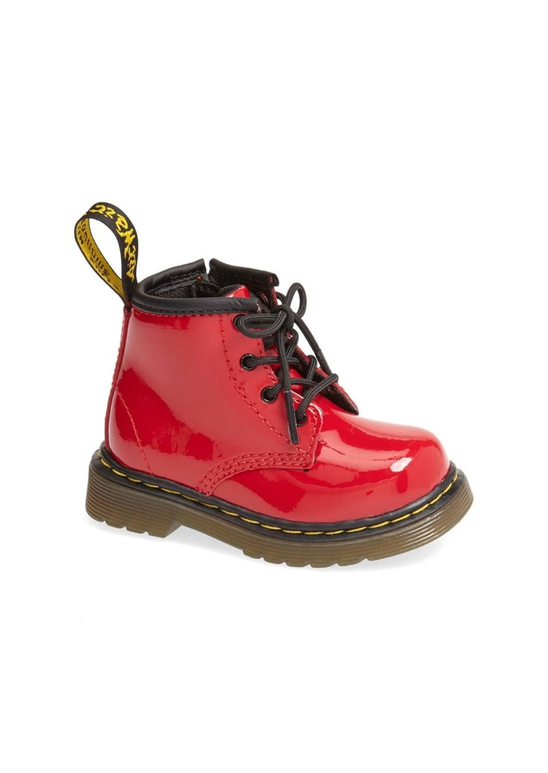 Dr. Martens 'Brooklee' Patent Leather Boot (Baby & Walker)