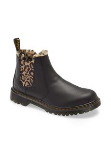 Dr. Martens Kids' Leonore Faux Fur Lined Chelsea Boot (Walker, Toddler, Little Kid & Big Kid)
