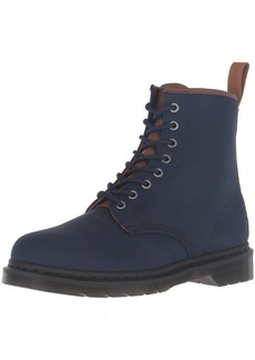 Dr. Martens Men's 1460 Canvas Combat Boot Navy+Tan