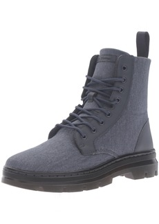 Dr. Martens Men's Combs Washed Canvas Combat Boot  3 UK/ M US