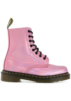 Dr. Martens metallic lace-up boots - Pink & Purple