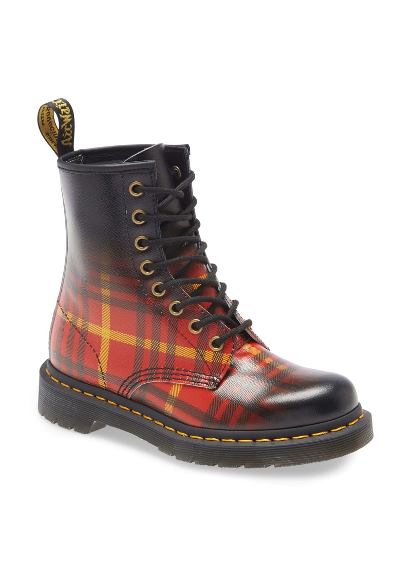 Dr. Martens Plaid Ombré Combat Boot (Women)