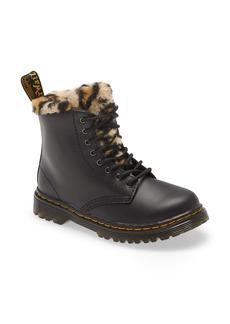 Dr. Martens Serena Leopard Faux Fur Boot (Walker, Toddler, Little Kid & Big Kid)