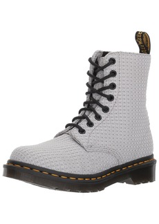 Dr. Martens Women's Page WC Fashion Boot MID Grey Waffle Cotton 4 Medium UK ( US)