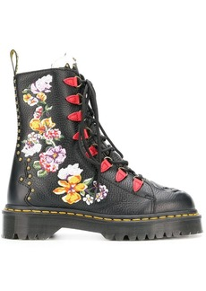 Dr. Martens flower embroidered ankle boots