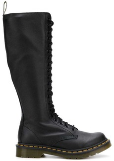 Dr. Martens lace up knee length boots