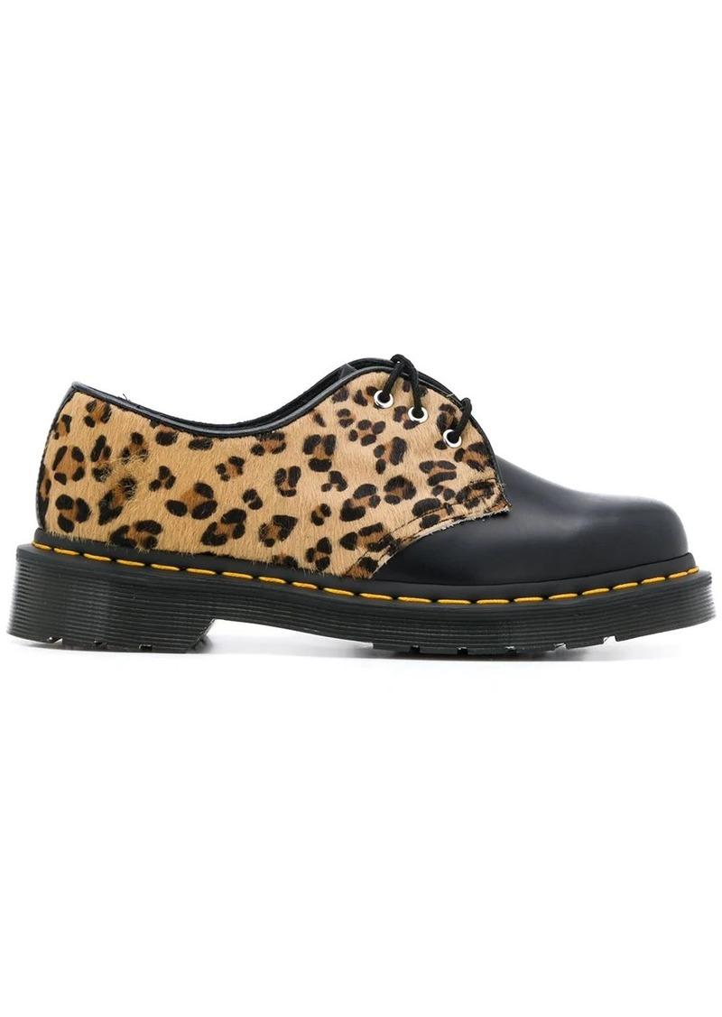 Dr. Martens leopard print panelled shoes