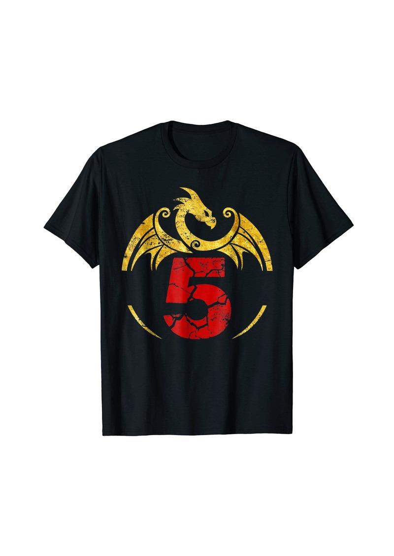 5th Birthday Gift Dragon Shirt