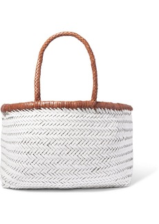 Dragon Bamboo Triple Jump Woven Leather Tote