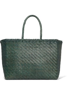 Dragon Basket Big Woven Leather Tote