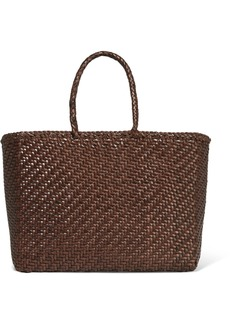 Dragon Basket Woven Leather Tote