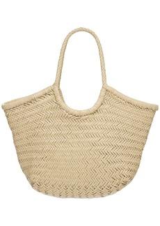 Dragon Big Nantucket Woven Leather Basket Bag