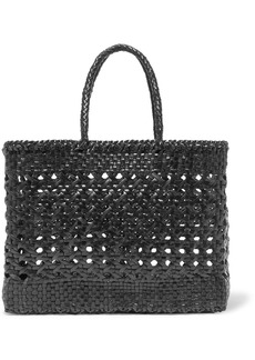 Dragon Cannage Big Woven Leather Tote