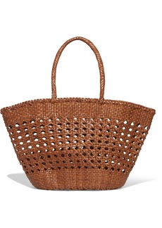 Dragon Cannage Woven Leather Tote