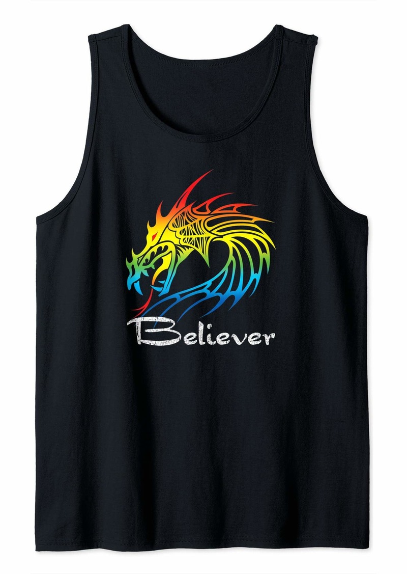 Dragon Believer - Imagine This Gift For Dragon Fans Tank Top