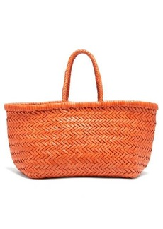 Dragon Diffusion Triple Jump small woven-leather basket bag