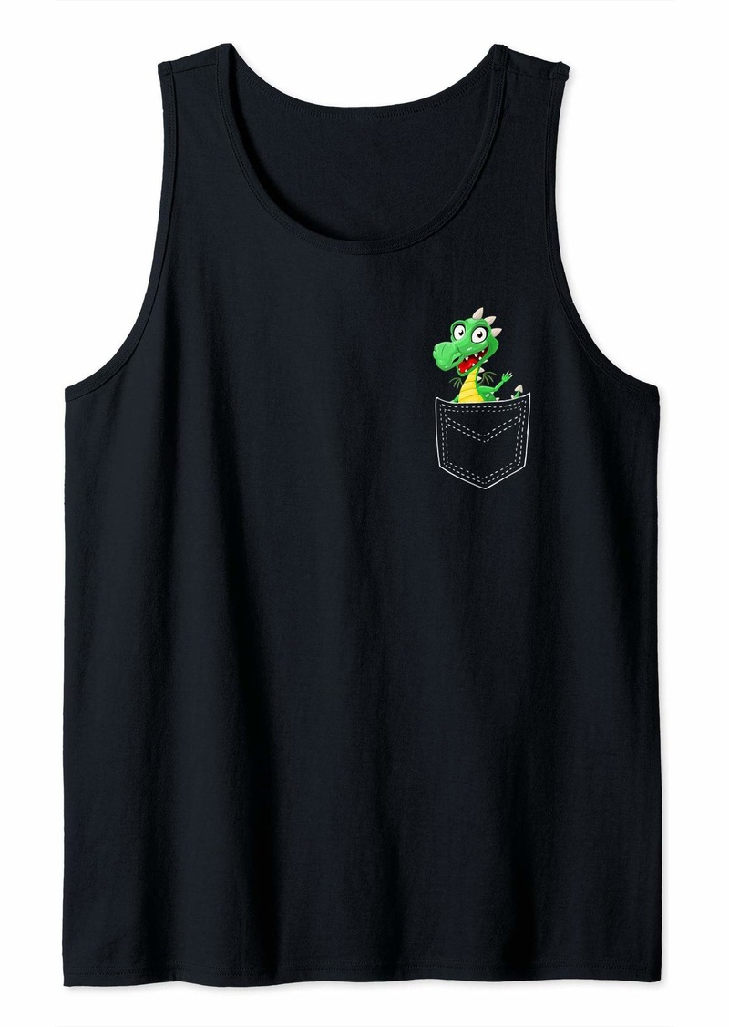 Dragon Pocket Shirt Cute Baby Dragon in a Pocket Shirt Gift Tank Top