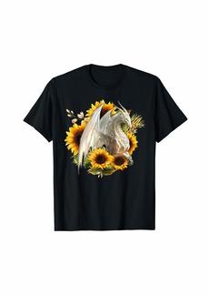 Dragon Sunflower Flower T-Shirt