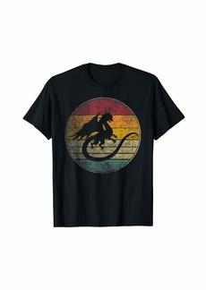 Dragon Vintage Distressed Retro Style Silhouette 70s 80s T-Shirt