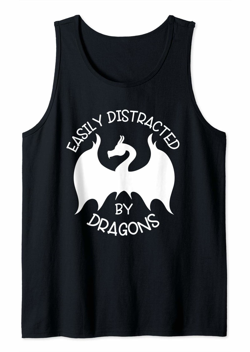 Easily Distracted By Dragons Folklore Legendary Creatures  Tank Top