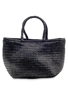 Dragon Grace Small Woven Leather Basket Bag