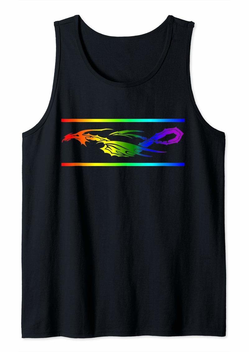 Rainbow Gay Lesbian Bi Trans Ally Pride Dragon Gift Tank Top