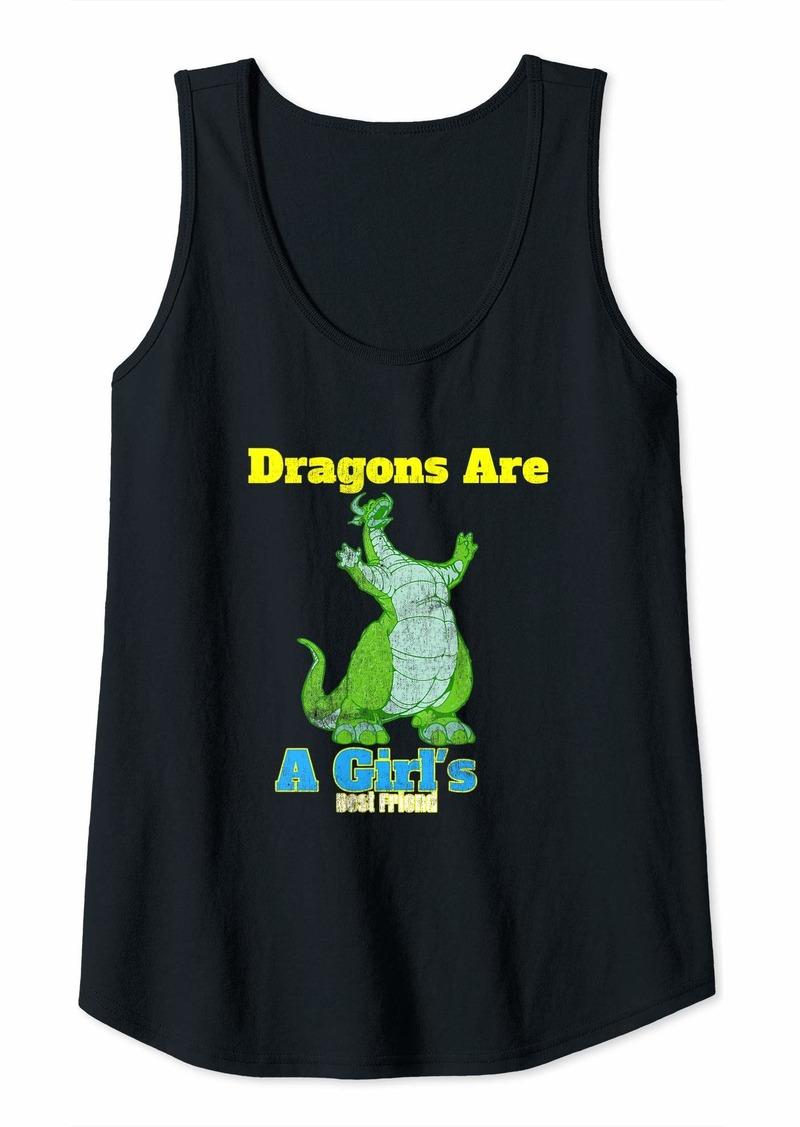 Womens dragon tshirt Dragons Are A Girl's Best Friend  Tank Top
