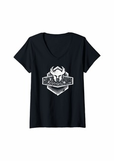Womens Dungeons DND Paladin Emblem Dragons Classes Tabletop RPG V-Neck T-Shirt