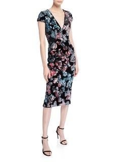 Dress the Population Allison Sequin Midi Sheath Dress
