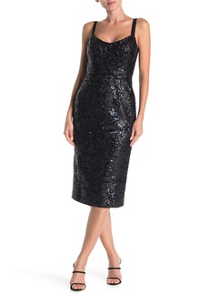 Dress the Population Beverly Sequin Midi Dress