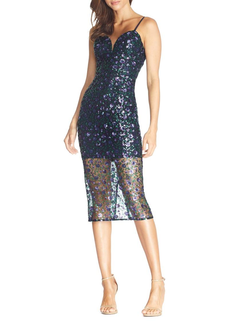Dress the Population Addison Sequin Lace Cocktail Dress