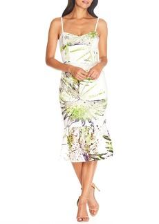 Dress the Population Alea Tropical Print Lace Dress